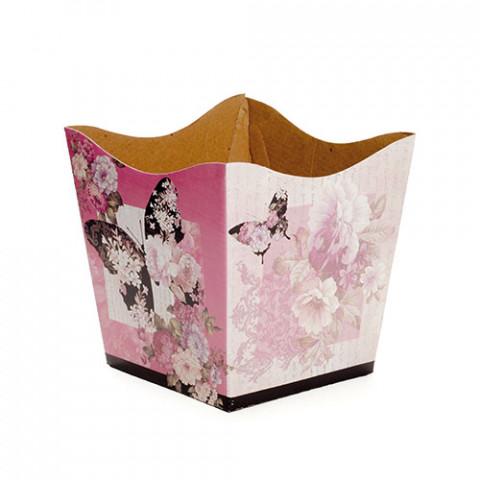 Cachepot G - Floral Borboletas