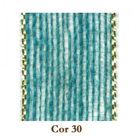 Fita de Juta - Azul Ocean / Ouro (3220-30)