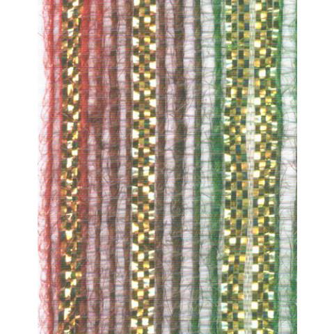 Fita de Juta - Modelo 3438 - Cor Verde / Vermelho /Ouro