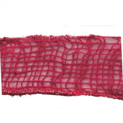 Fita de Juta Natural - Trama Aberta - Pink
