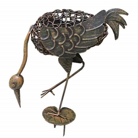 Pássaro Tropical 2 com estaca (28x12x50cm) - bronze