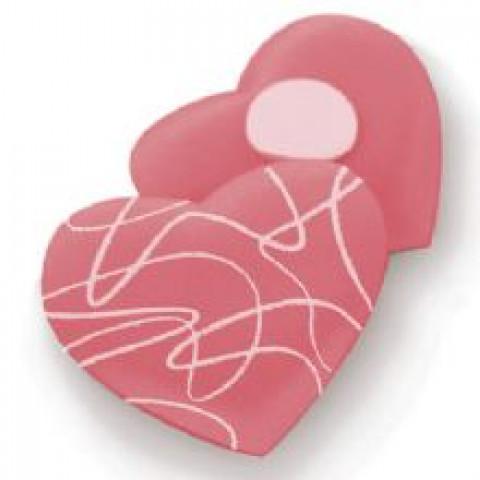 Adesivo Coração Arabesco - Rosa / Branco