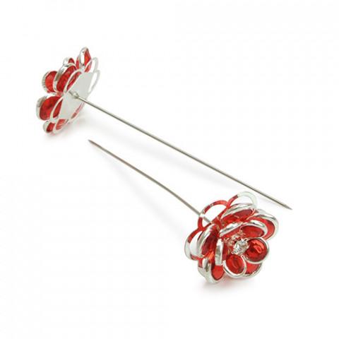 Alfinete - Flor Vermelha