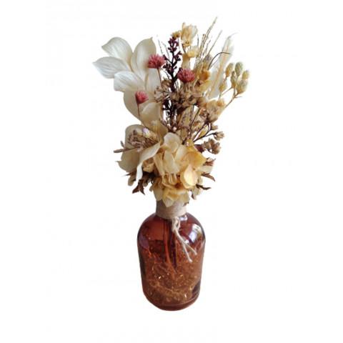 Arranjo Rústico com flores desidratadas