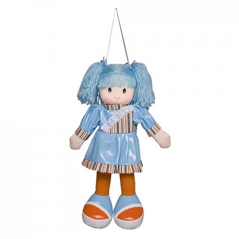 Boneca Anie Vestido Liso Azul