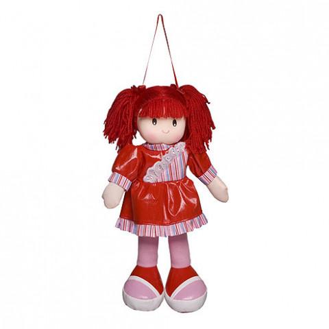 Boneca Anie Vestido Liso Vermelho