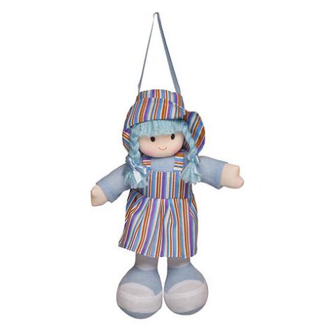 Boneca Gigi Vestido Listrado Azul