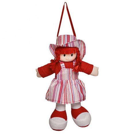 Boneca Gigi Vestido Listrado Vermelho