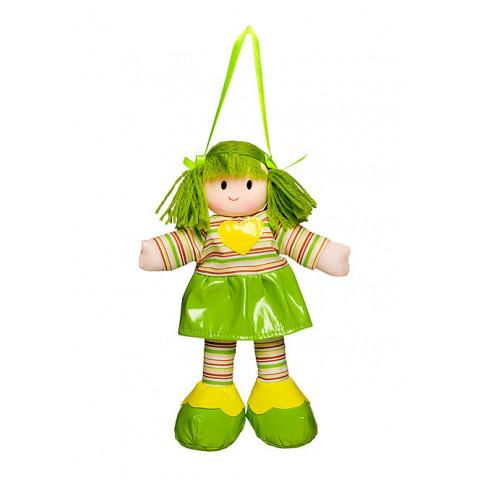 Boneca Liza Vestido Listrado Verde Com Coração Amarelo