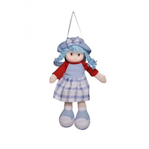 Boneca Paty Vestido Xadrez Azul