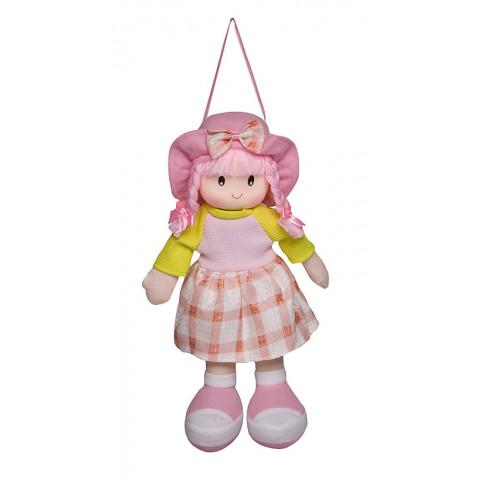 Boneca Paty Vestido Xadrez Rosa