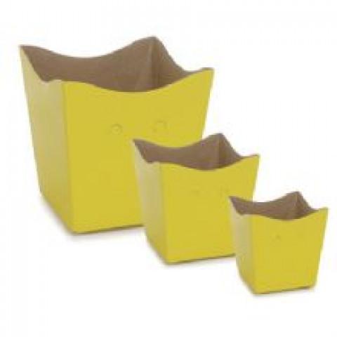 Cachepot PP Amarelo