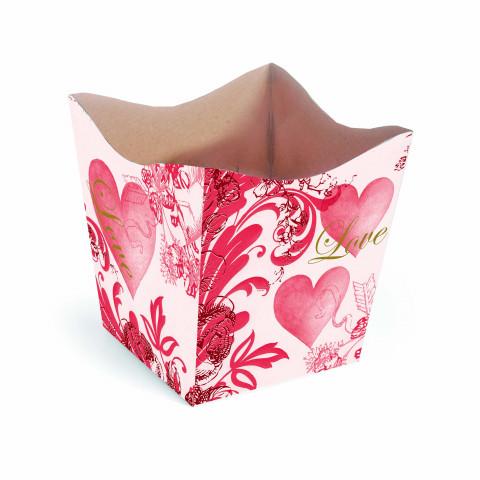 Cachepot G - Coração Floral Love