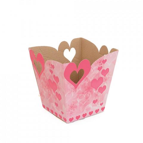Cachepot G - Coração Pingente - Rosa