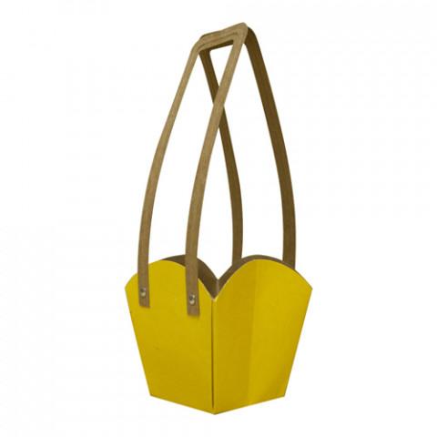 Cachepot P - c/alça Amarelo