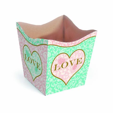 Cachepot P - Coração Love Tiffany