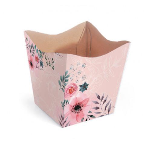 Cachepot P - Floral Rosê