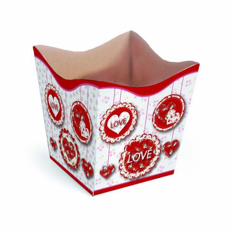 Cachepot P - Love Pingente Vermelho