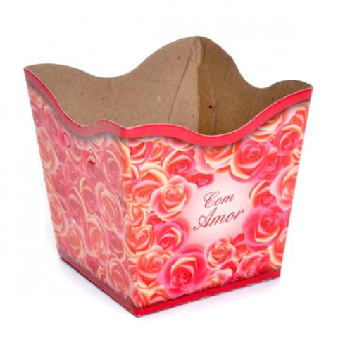Cachepot P - Rosas com Amor