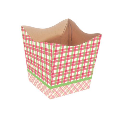 Cachepot P - Xadrez Pink / Verde