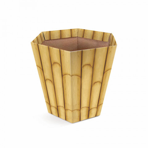 Cachepot Sextavado M - Bambu