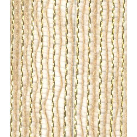 Fita Juta 7510 - Natural   Ouro (Largura 10mm   1,0cm)