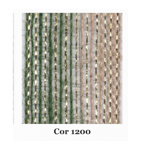 Fita de Juta - Degradê Ouro - Verde Oliva | Natural (7660-1200)