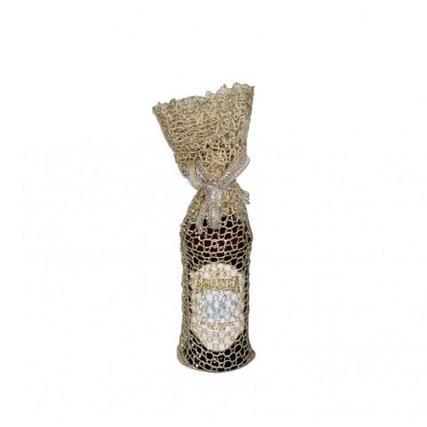 Embalagem de Juta para Mini Garrafa (8 x 40 cm)
