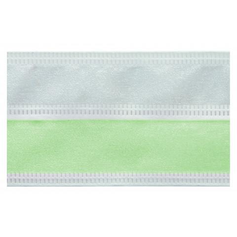 Fita Bicolor Organza - Verde Água