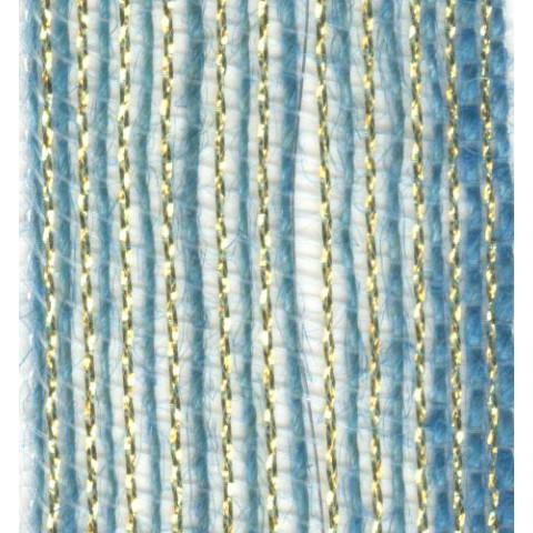 Fita de Juta - Azul Bebê / Ouro (7560-40)