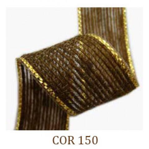 Fita de Juta - Caramelo / Ouro (3260-150)