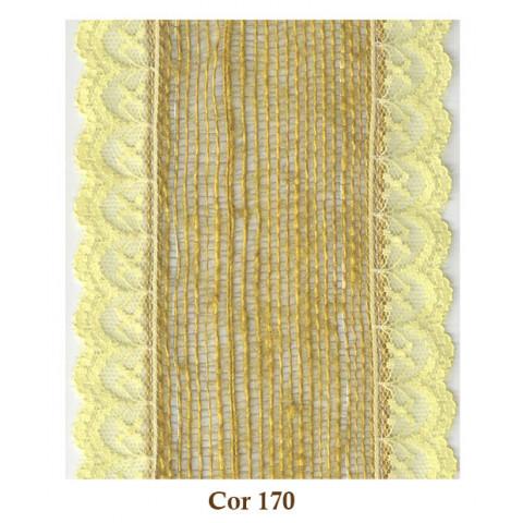Fita de Juta com Renda - Amarelo [Largura 9 cm]