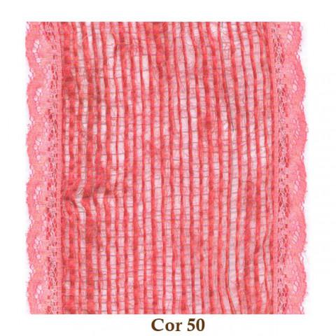Fita de Juta com Renda - Cenoura [Largura 7,0 cm]