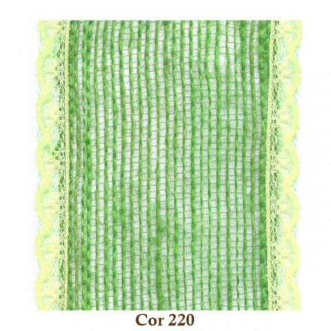 Fita de Juta com Renda - Verde Lima [Largura 8,0 cm]