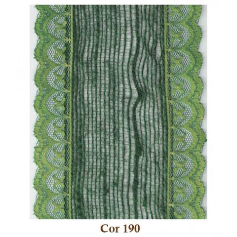 Fita de Juta com Renda - Verde Musgo [Largura 9 cm]