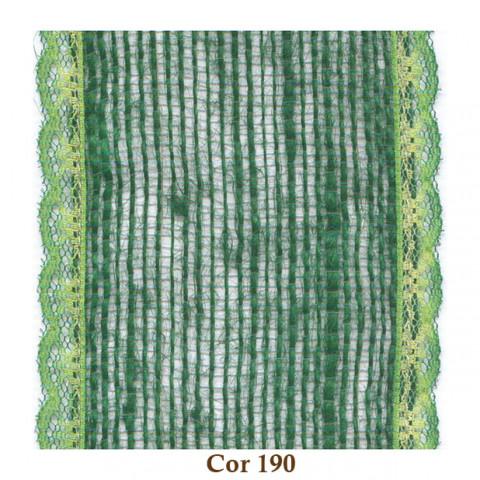Fita de Juta com Renda - Verde Musgo [Largura 8,0 cm]
