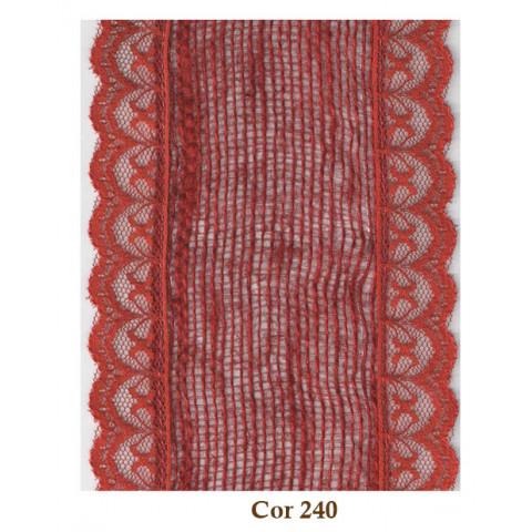 Fita de Juta com Renda - Vermelho [Largura 9 cm]