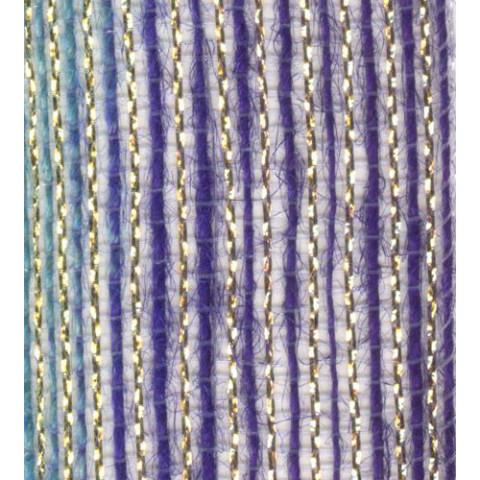 Fita de Juta - Degradê Ouro - Azul Bebê / Roxo (7638-400)