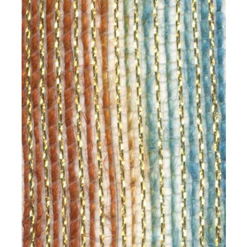 Fita de Juta - Degradê Ouro - Azul / Marrom (7638-730)