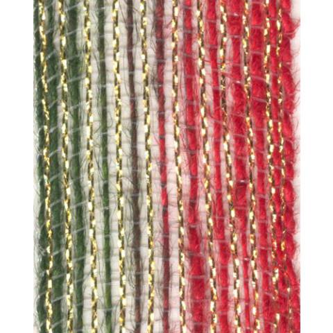 Fita de Juta - Degradê Ouro - Verde / Vermelho (7638-255)