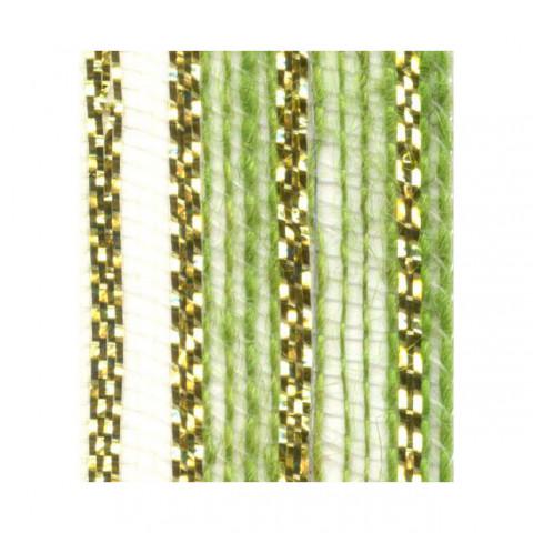 Fita de Juta - Modelo 3438 - Cor Verde Lima /Ouro