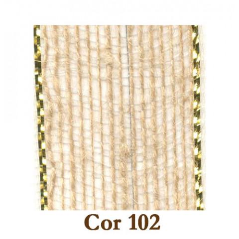 Fita de Juta - Natural/Ouro (3210-102)