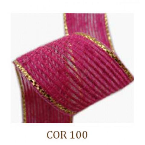 Fita de Juta - Rosa / Ouro (3260-100)