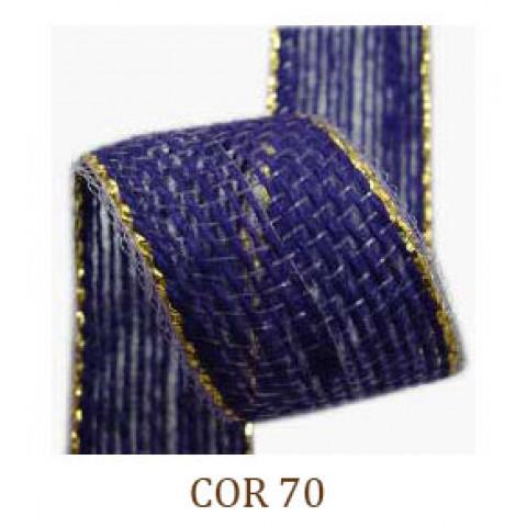 Fita de Juta - Roxo / Ouro (3260-70)