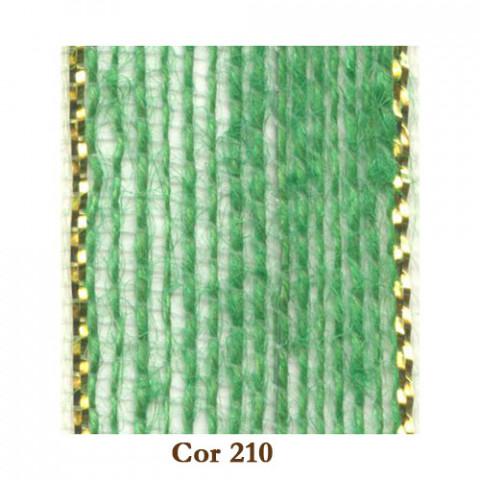 Fita de Juta - Verde Bebê / Ouro (3238-210)