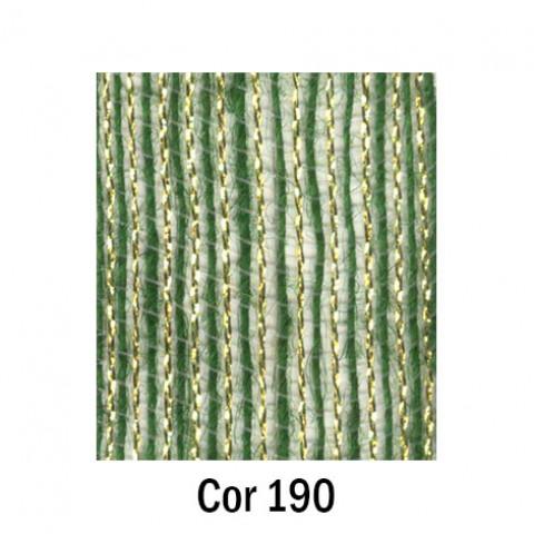 Fita de Juta - Verde Musgo / Ouro (7538-190)