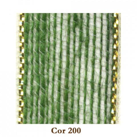Fita de Juta - Verde Oliva / Ouro (3238-200)