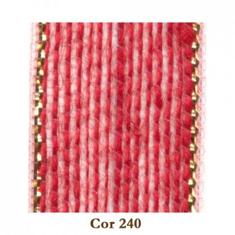 Fita de Juta - Vermelho / Ouro (3238-240)