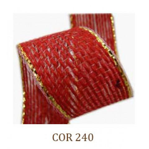 Fita de Juta - Vermelho / Ouro (3260-240)