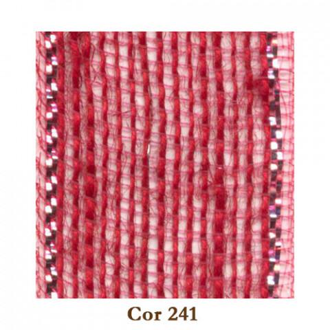 Fita de Juta - Vermelho / Prata (3210-241)